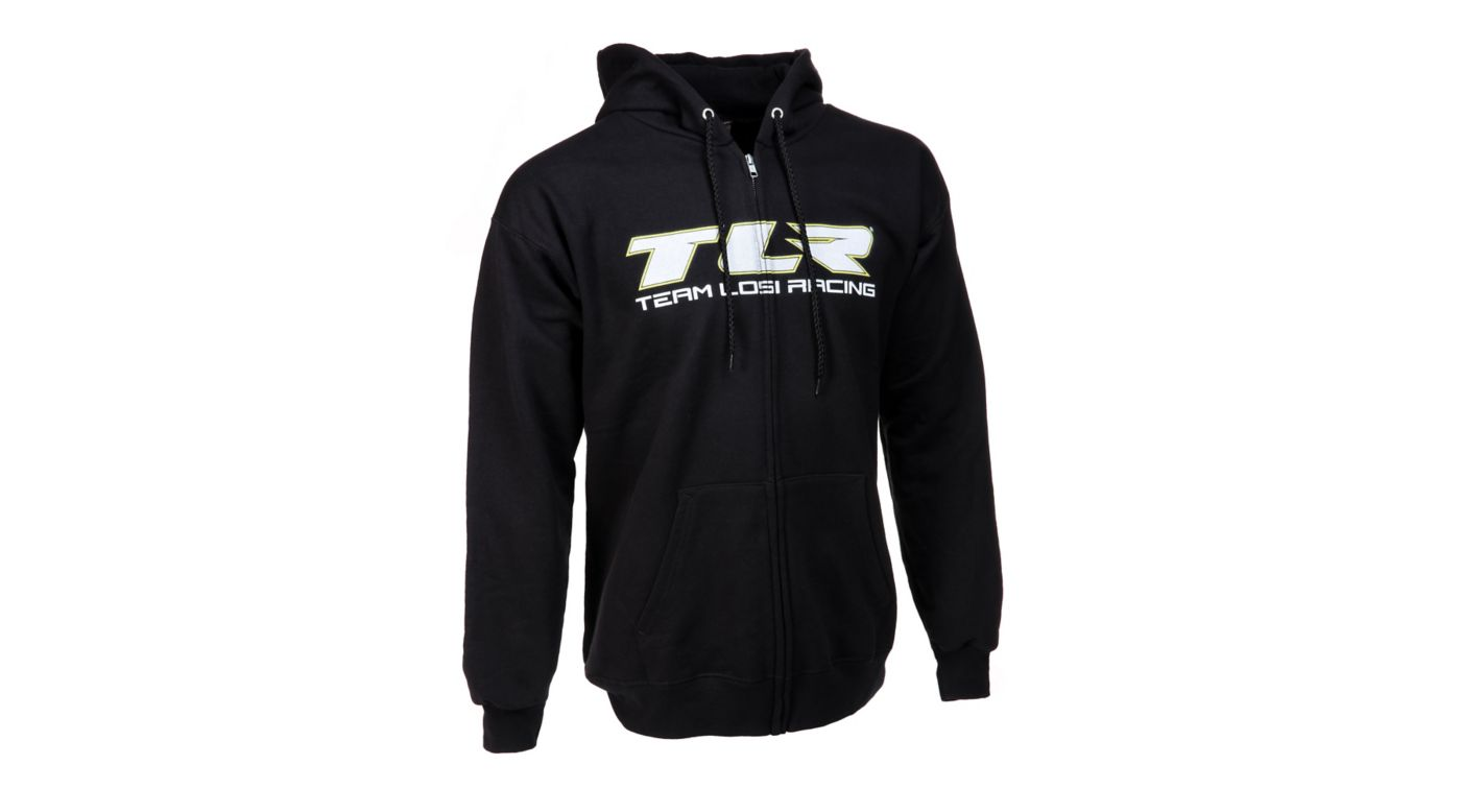 Image for TLR Zip Hoodie Black XLarge from HorizonHobby