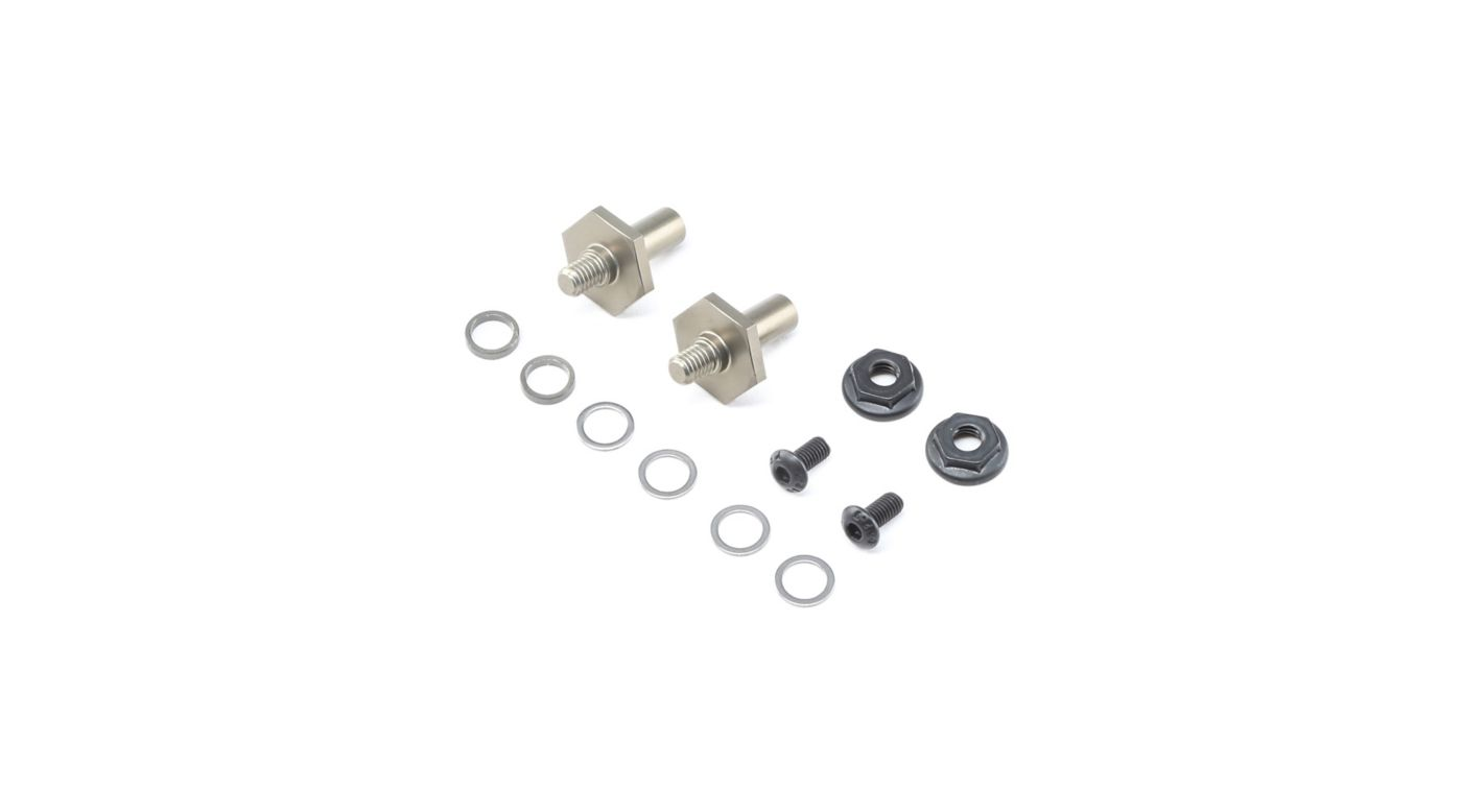 Image for Front Axle Set Aluminum 1mm Adj 12mm Hex  22 4.0 from HorizonHobby