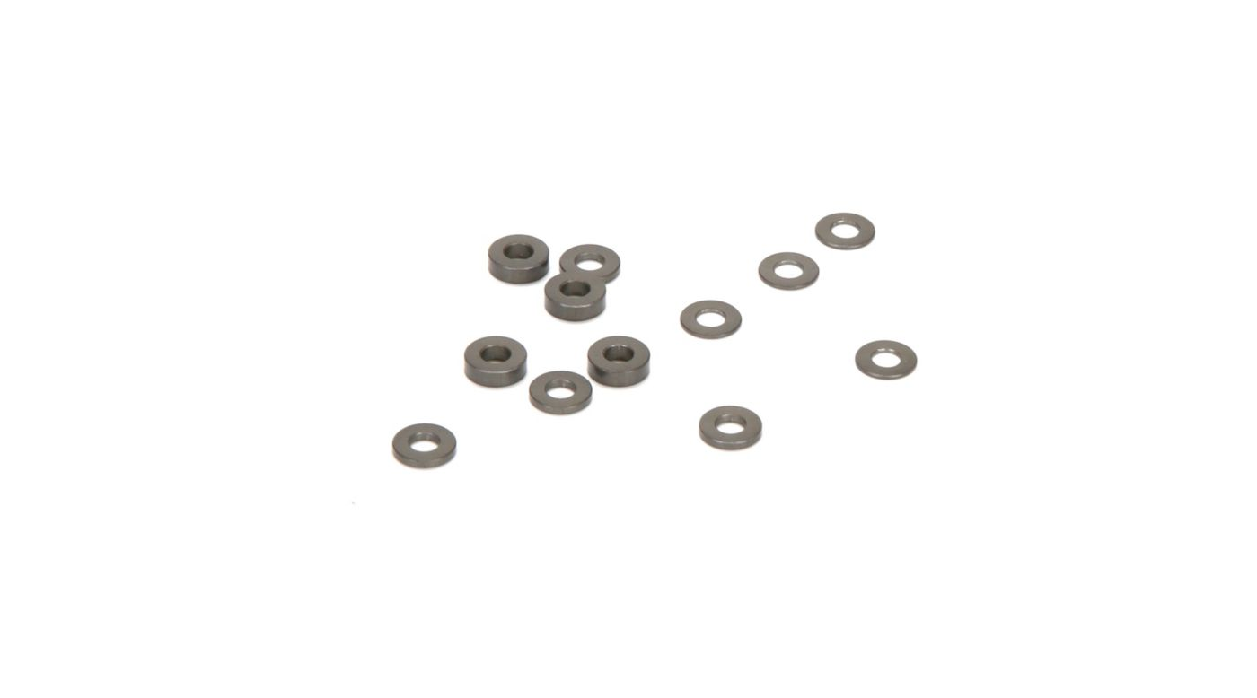Image for Caster Block Alum Ball Stud Spacers (4): 22 3.0, 4.0, 5.0 from Horizon Hobby
