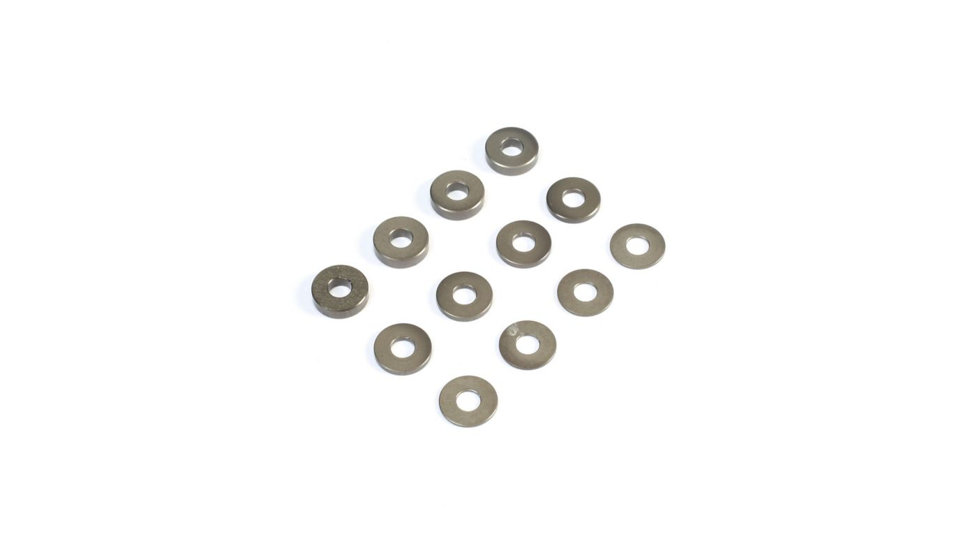 Image for M3 Aluminum Washer Set, Hard Anodized (4): 22 3.0, 4.0, 5.0 from HorizonHobby