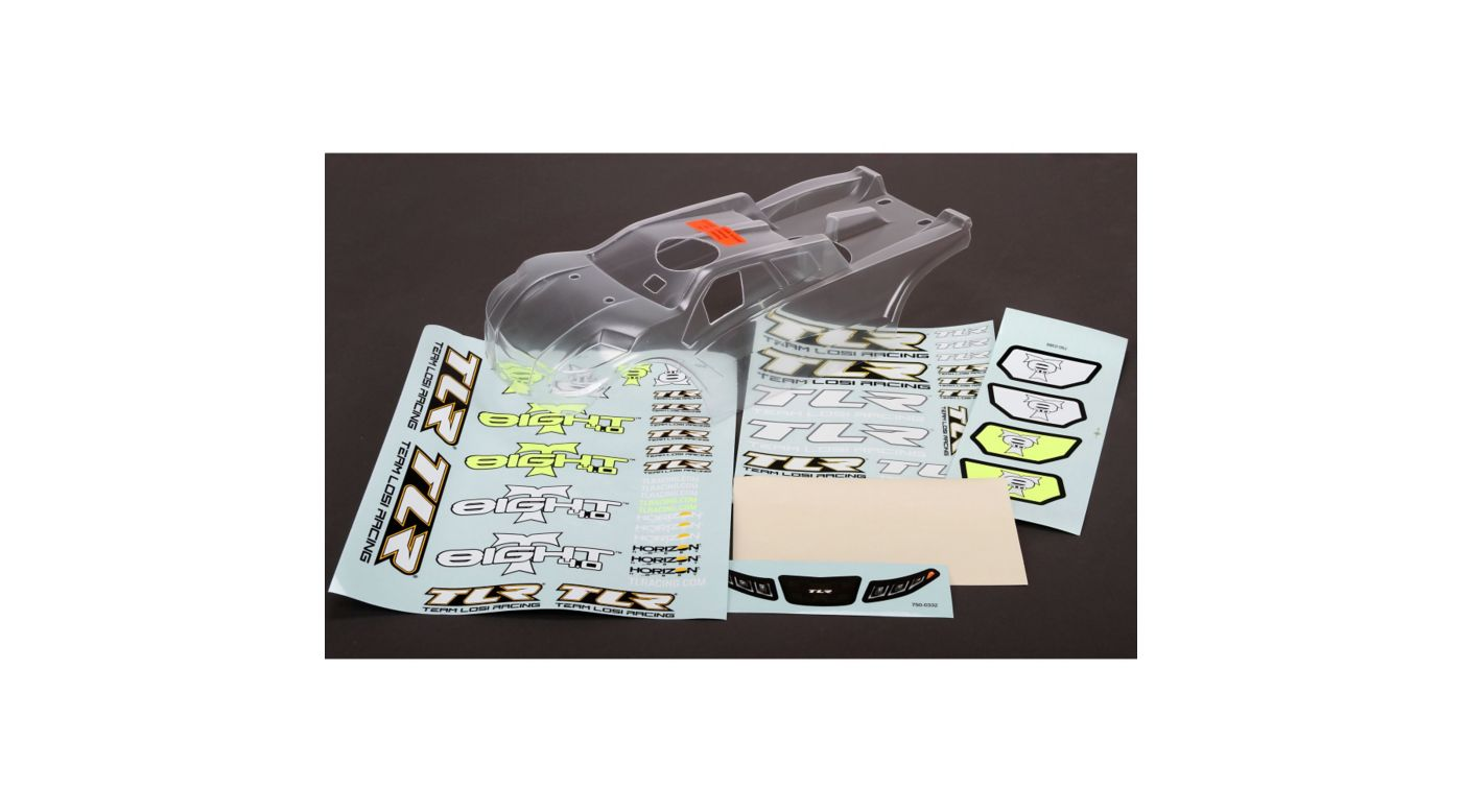 Image for 1/8 Clear Body Set: 8T 3.0 & 4.0 from HorizonHobby