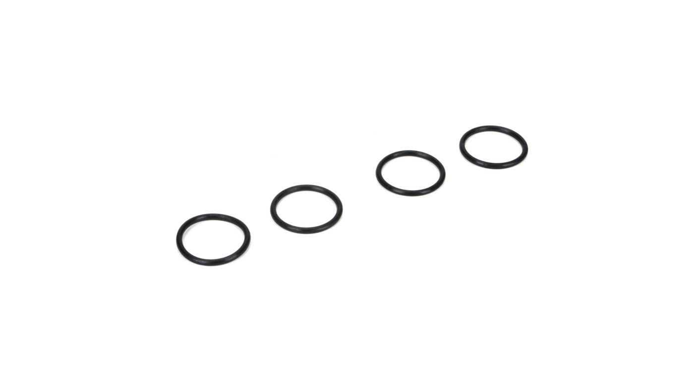 Image for 16mm Shock Nut O-rings (4): 8B 3.0, 8X, 8XE from Horizon Hobby