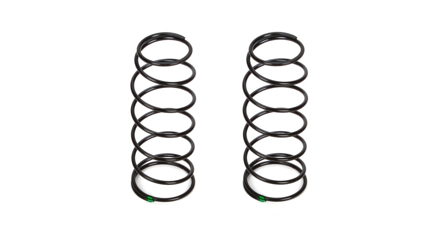 Image for 16mm Front Shock Spring, 4.8 Rate, Green (2): 8B 3.0 from HorizonHobby
