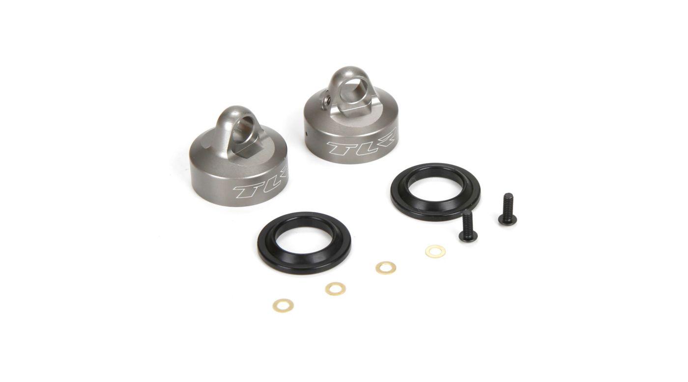 Image for 16mm Bleeder Shock Caps, Aluminum (2): 8T 4.0 from HorizonHobby