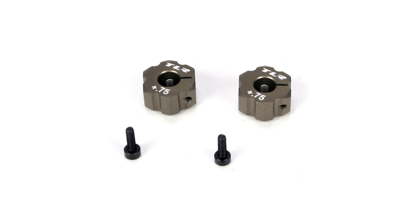 Image for Rear Hex, +.75mm Width, Aluminum: 22 from Horizon Hobby