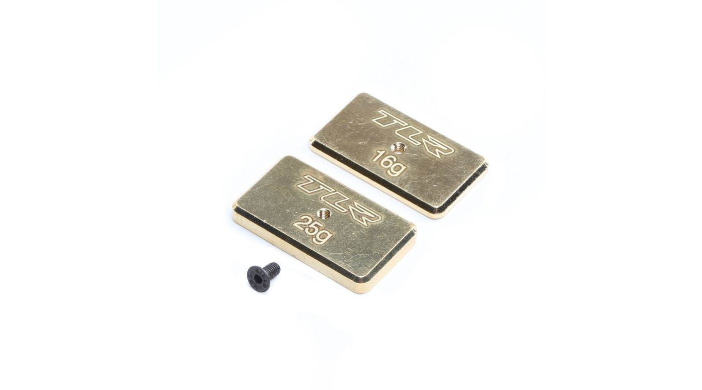Image for Rear Brass Weight Set, 16g & 25g: 22 5.0 from HorizonHobby