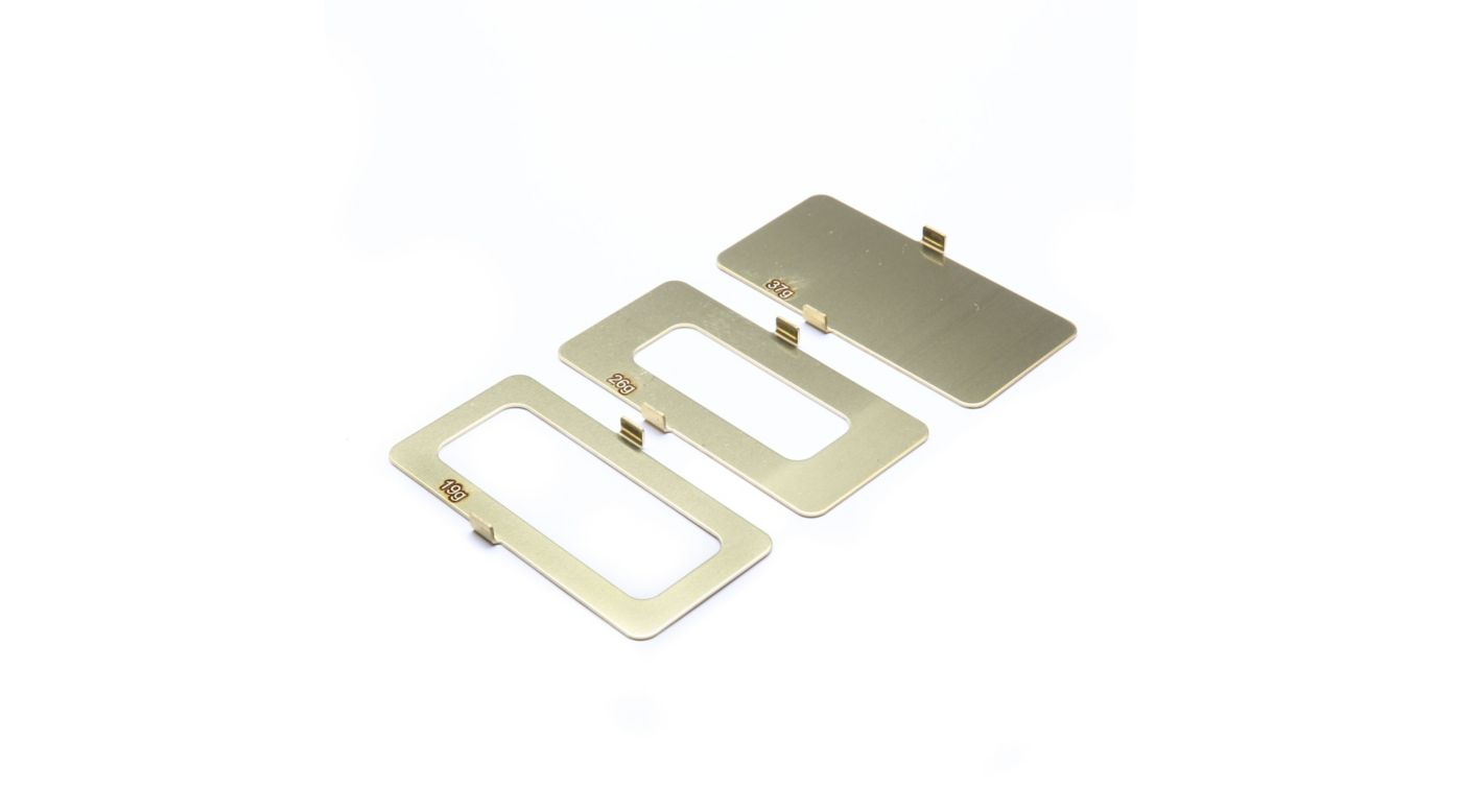 Image for Brass Battery Weight Set - 18g, 25g, 36g from Horizon Hobby