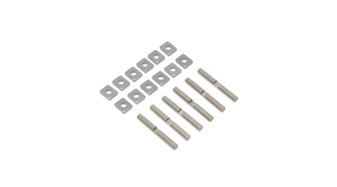 Image for Cross Pins & Support Blocks, Aluminum: 5T, MINI WRC from HorizonHobby