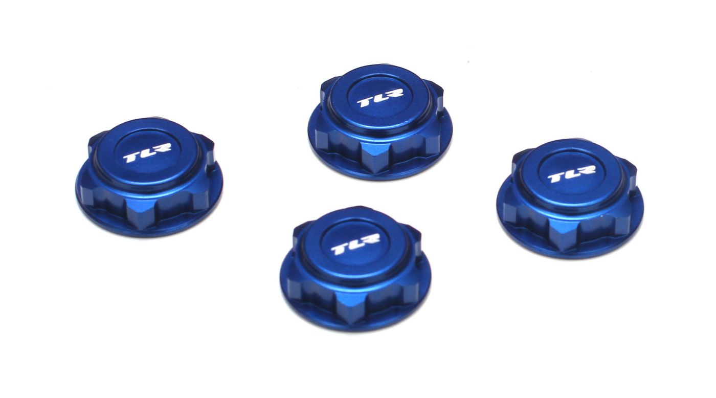 Image for Covered 17mm Wheel Nuts, Aluminum, Blue: 8/T 2.0 from HorizonHobby