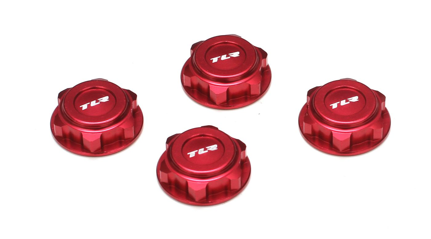 Image for Covered 17mm Wheel Nuts, Aluminum, Red: 8/T 2.0 from HorizonHobby