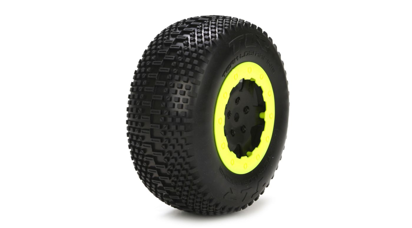 Image for Tire with Foam, White, Mounted (2): 22SCT RTC from HorizonHobby