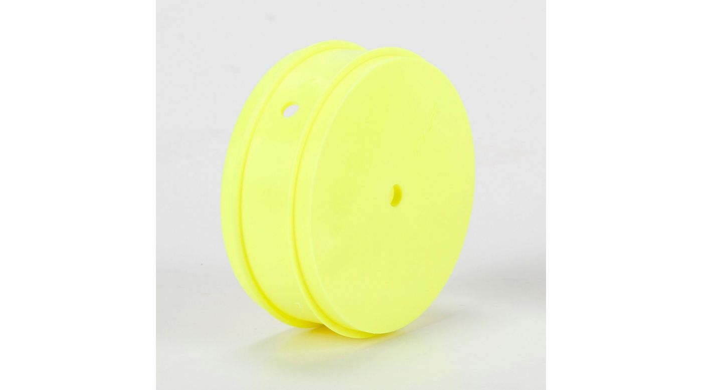 Image for 61mm Front Wheel, 12mm Hex, Yellow (2): 22 3.0 from HorizonHobby
