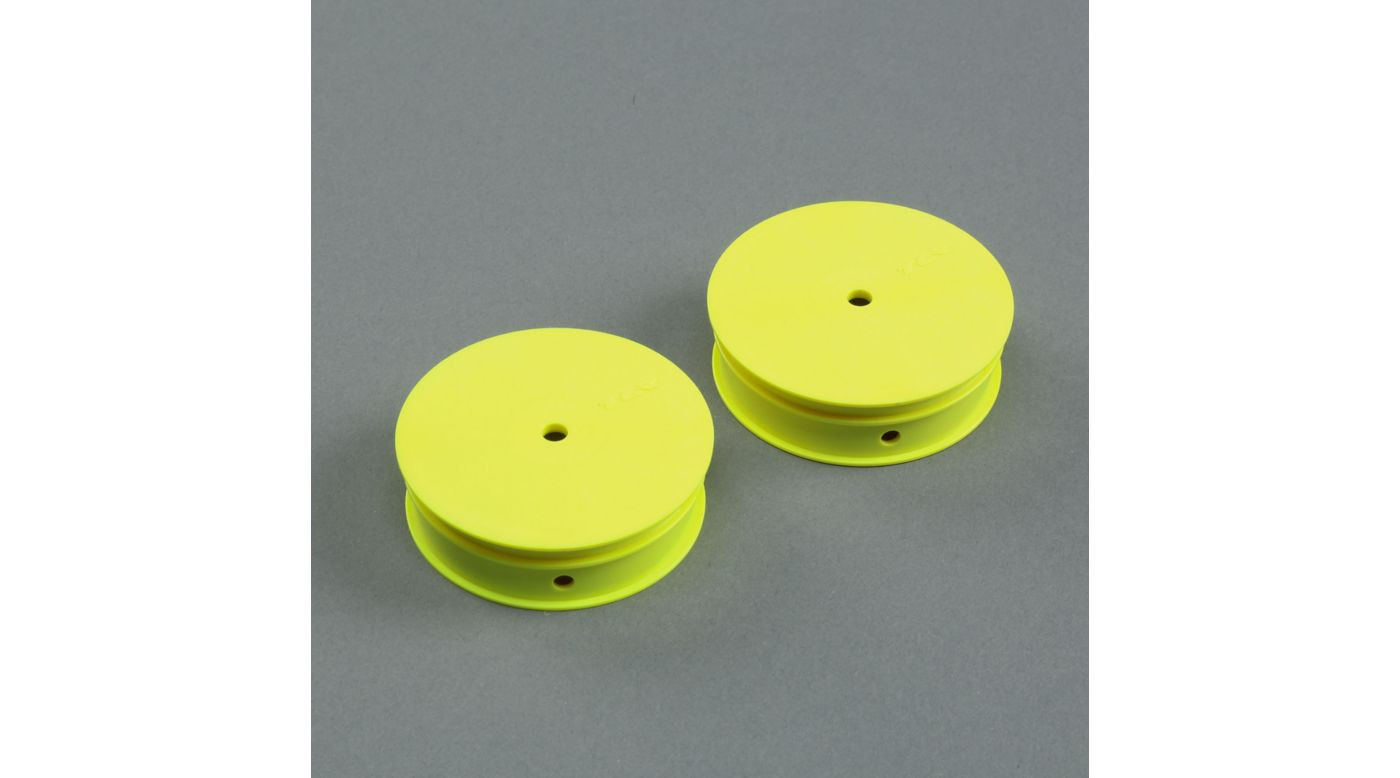Image for 1/10 Narrow Front Buggy Wheels, Stiffezel, 12mm Hex, Yellow (2): 22 from HorizonHobby