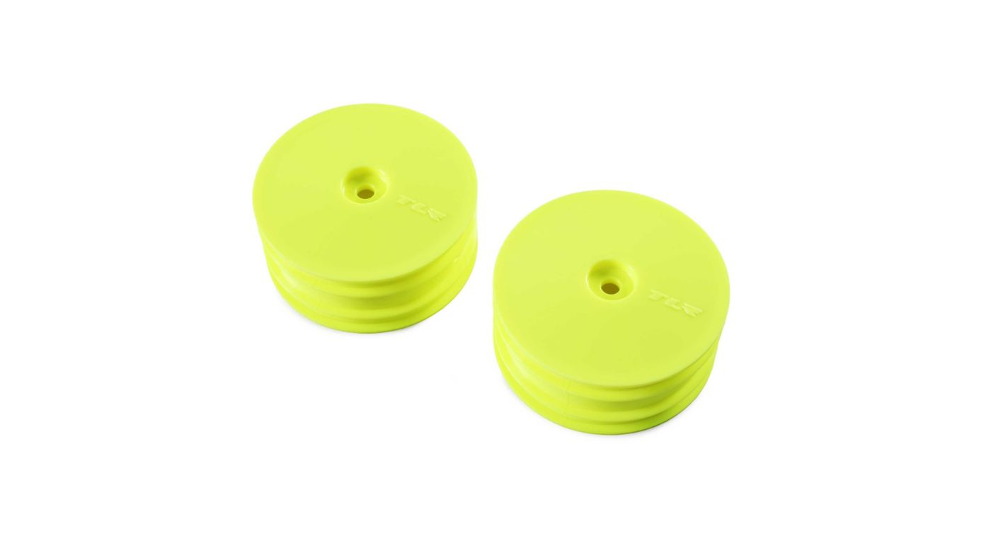 Image for 1/10 Front Buggy 2.2 Wheels, 12mm Hex, Yellow (2): 22X-4 from HorizonHobby