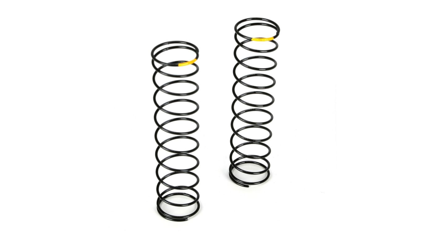 Image for Rear Shock Spring, 2.0 Rate Yellow: 22T from HorizonHobby