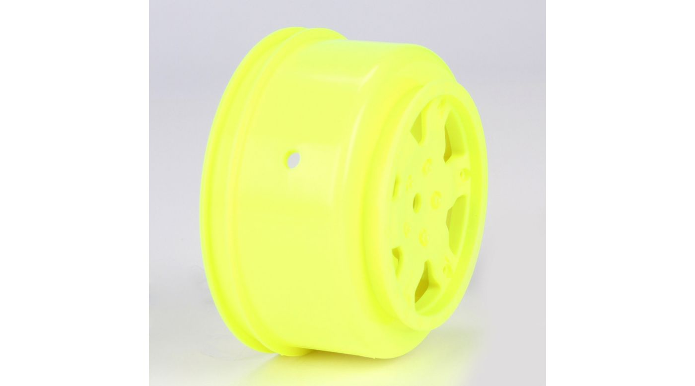 Image for 1/10 Front/Rear SCT 2.2/3.0 Wheels, 12mm Hex, Yellow (2): 22 SCT from HorizonHobby