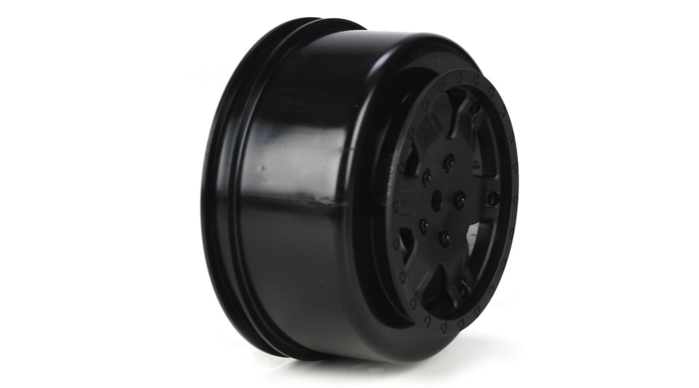 Image for 1/10 Front/Rear SCT 2.2/3.0 Wheels, 12mm Hex, Black (2): 22 SCT from HorizonHobby