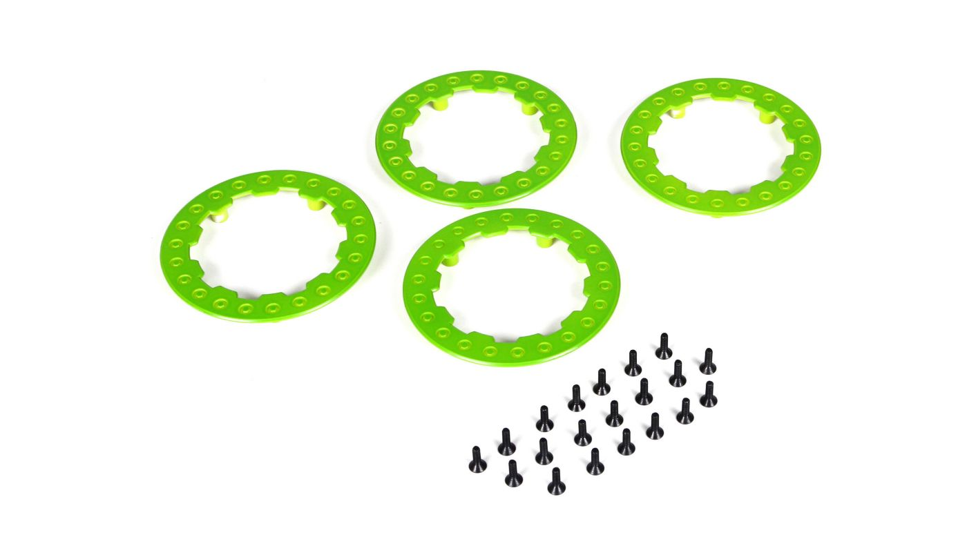 Image for Beadlock Ring w/Screws, Green: SCT/SCB/SCT (4) from HorizonHobby