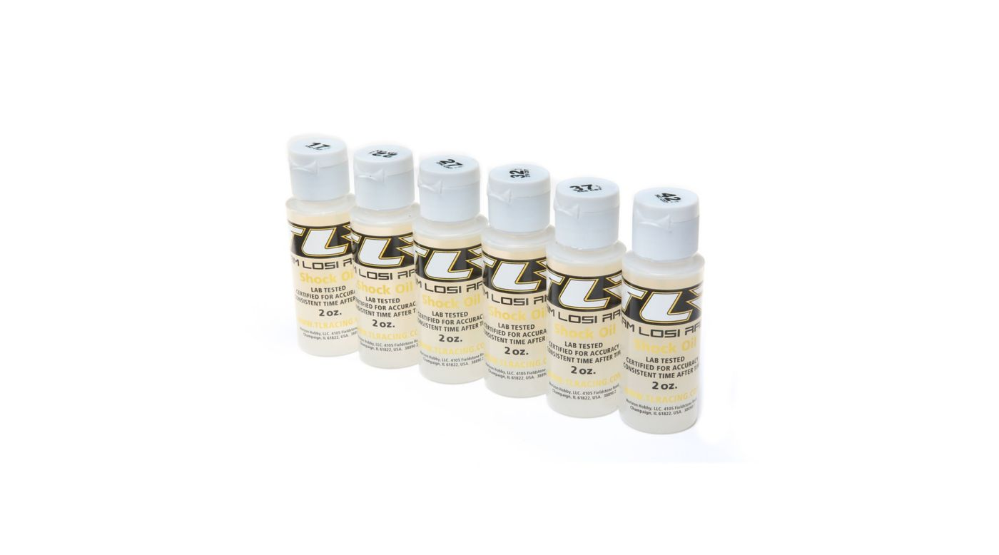 Image for Shock Oil, 6Pk, 17.5, 22.5, 27.5, 32.5, 37.5, 42.5 2oz from HorizonHobby