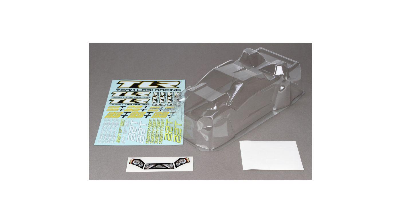 Image for Body & Spoiler set, Rear Motor, Clear: 22T/2.0 from HorizonHobby
