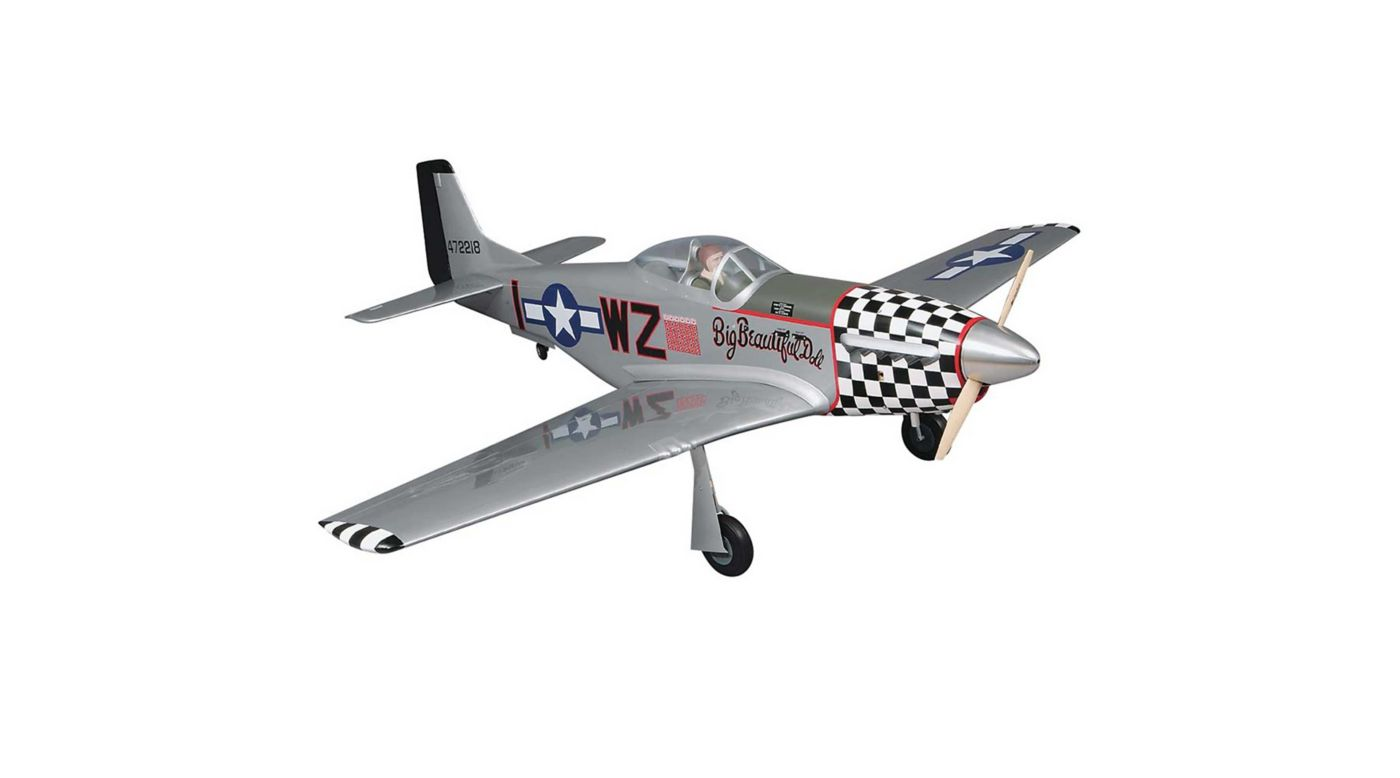 Image for 1/5 Giant P-51D Mustang GP ARF 2.1-2.8, 84.5
