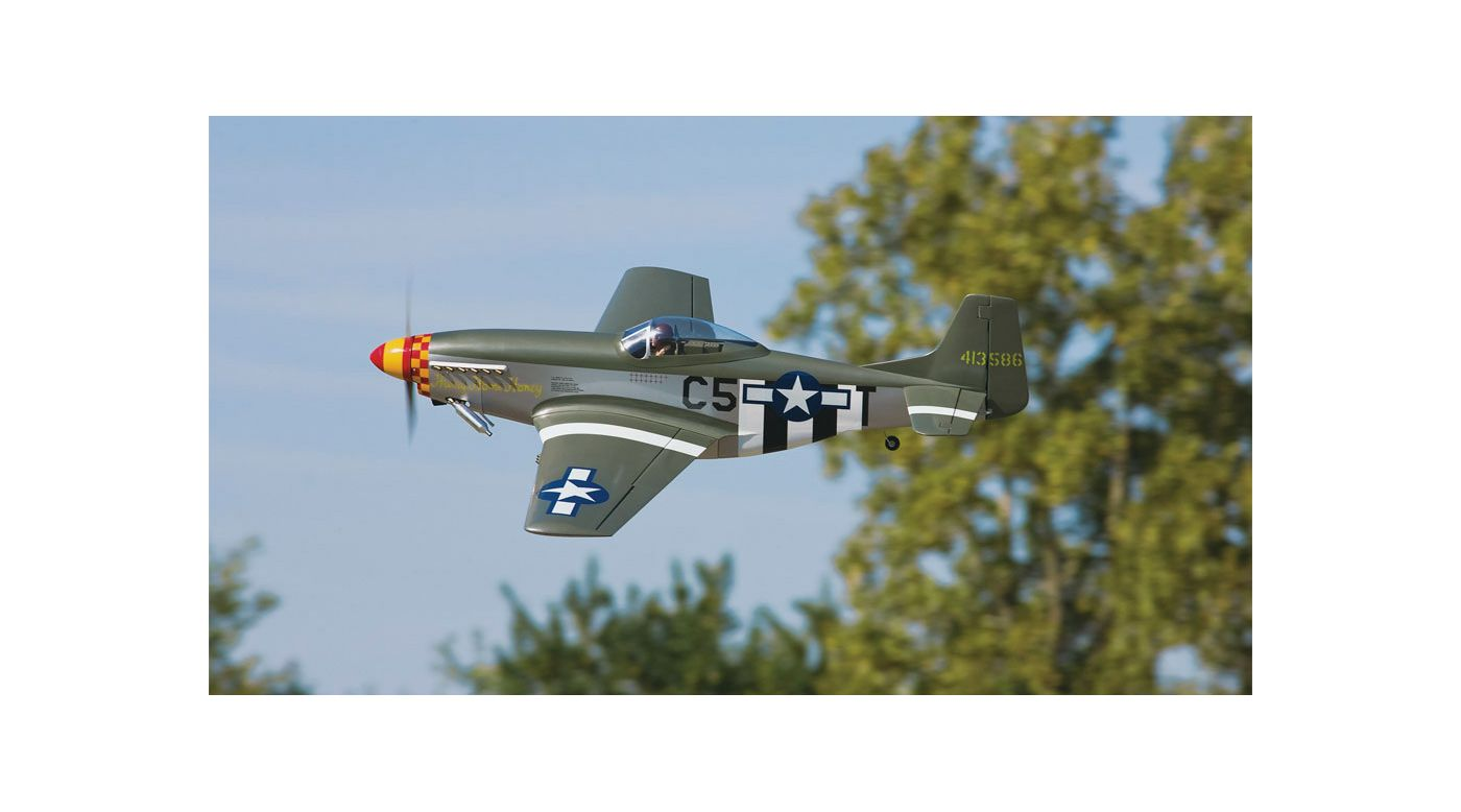 Image for 1/7 P-51D Mustang 60 GP ARF with Retracts, 64.5