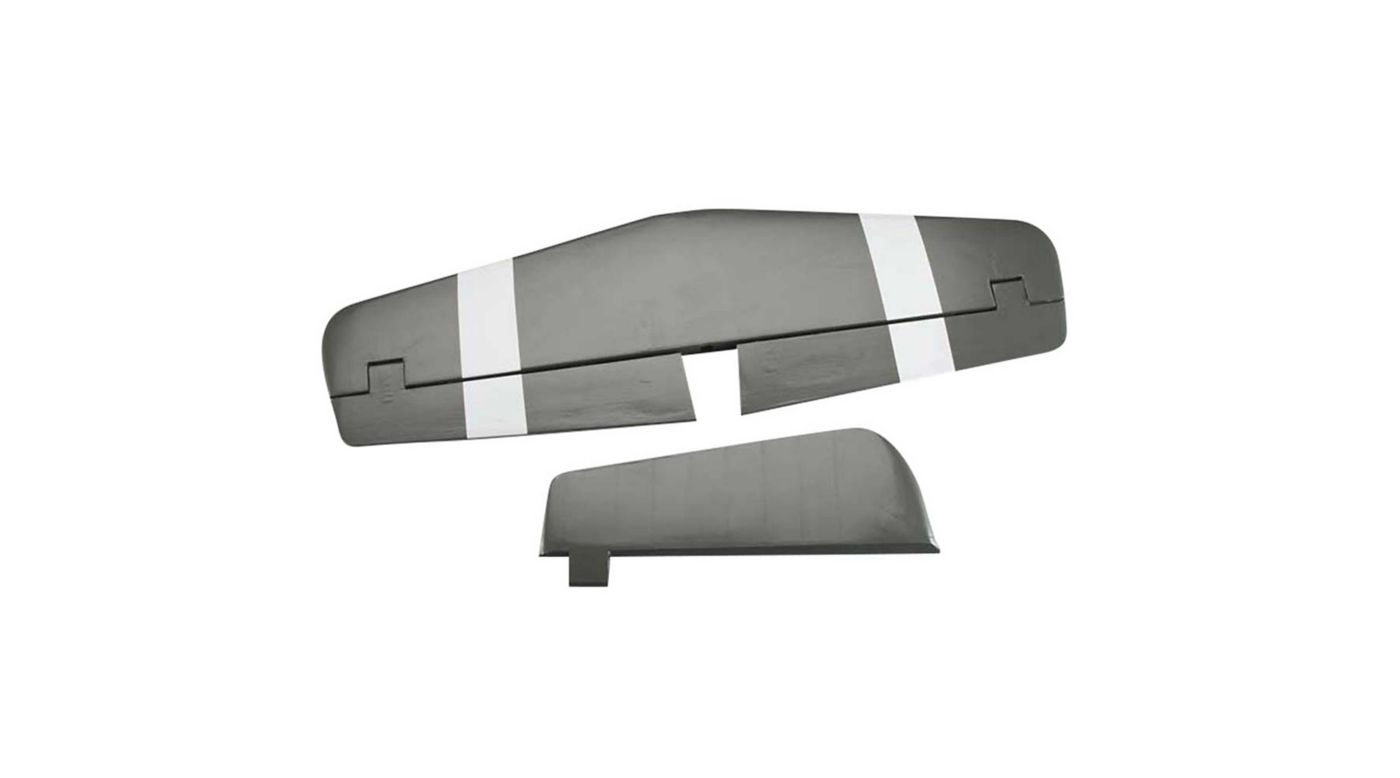 Image for Tail Set/Horizontal Stab/Rudder: P-51D 60 Size from HorizonHobby