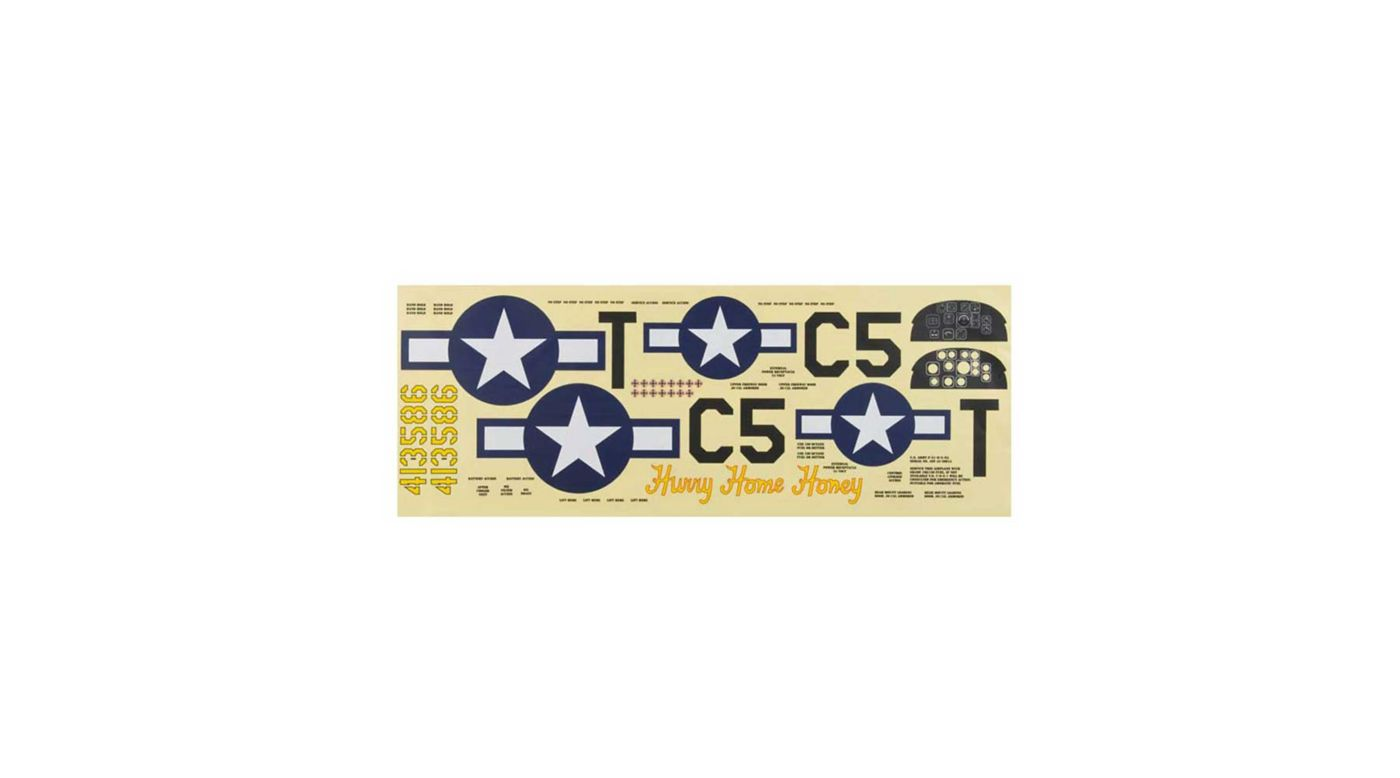 Image for Decal Set: P-51D 60 Size from HorizonHobby