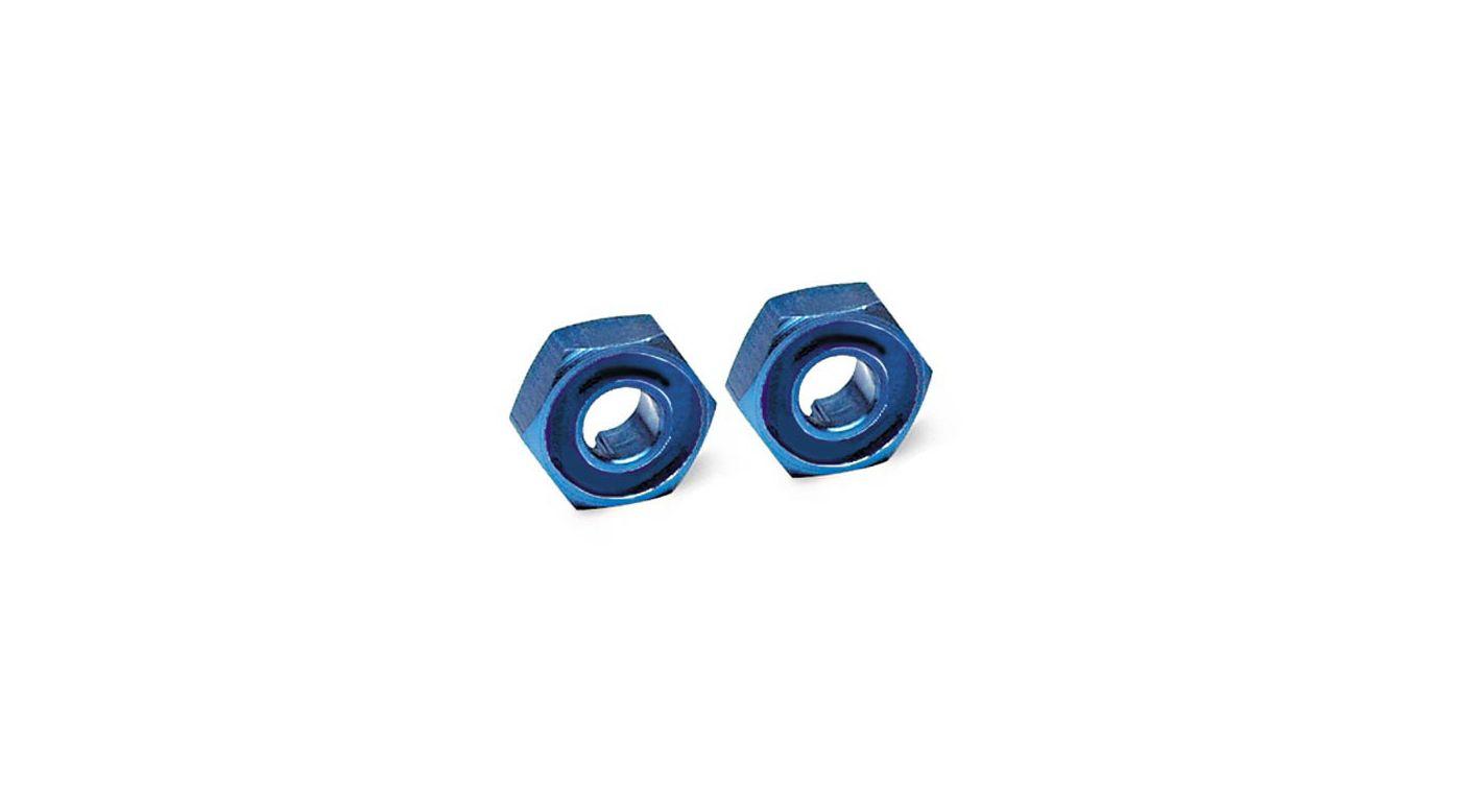 Image for Wheel Hubs, Hex, Blue Aluminum: N4-TEC (1 pair) from HorizonHobby