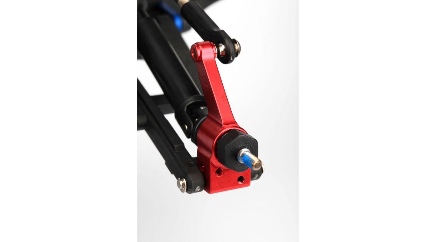 Image for Rear Stub Axle Carrier, Red (2):SLH 4x4, Stamp 4x4 from HorizonHobby