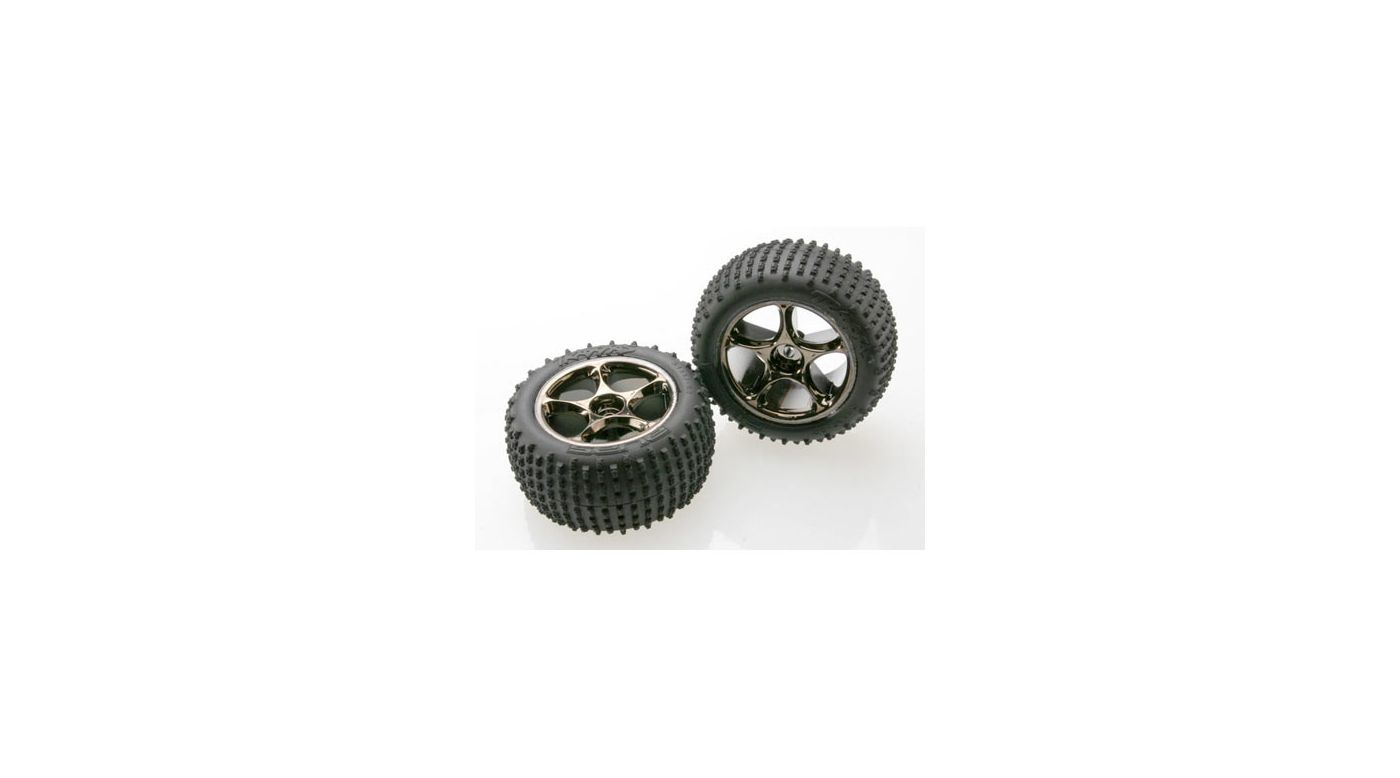 Image for Rear Tracer Black Chrome Wheels with Alias Tires (2): BVXL from HorizonHobby