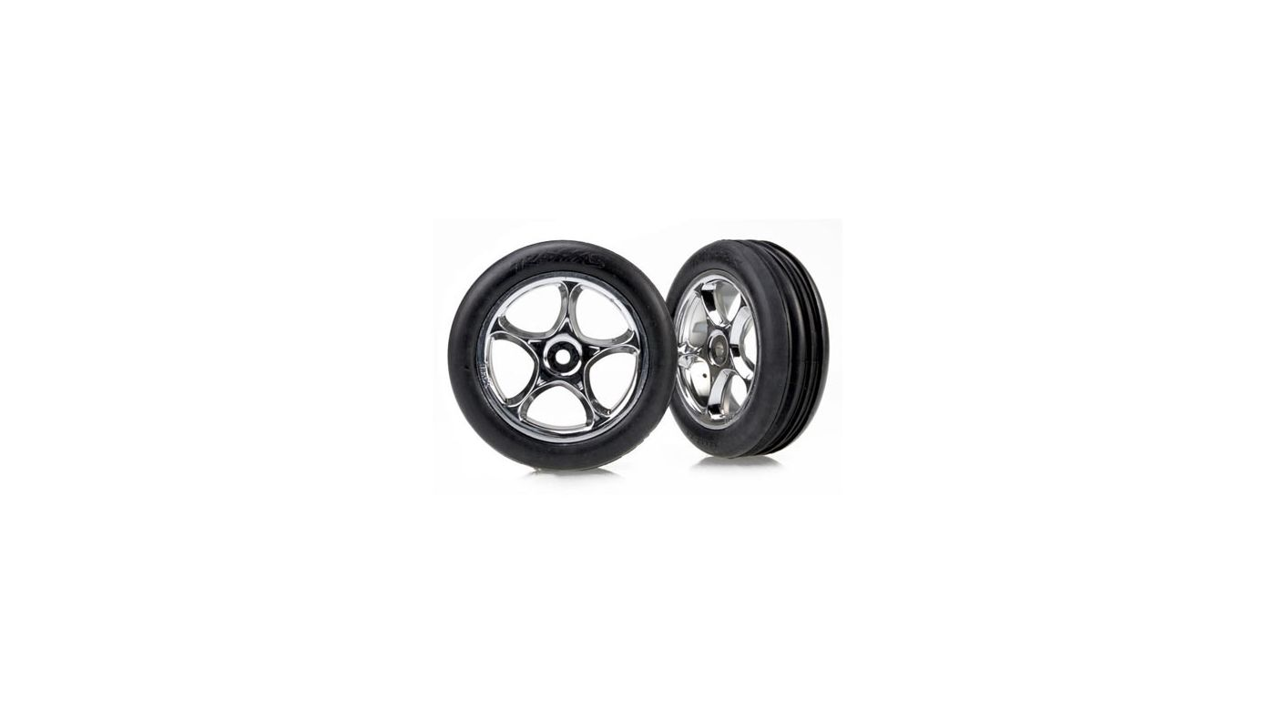Image for Tracer 2.2 Chrome Wheels w/ Alias Tires (2), FR from HorizonHobby