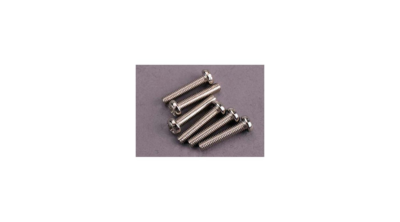 Image for Screws, 3 x 15mm, Roundhead (6) from HorizonHobby