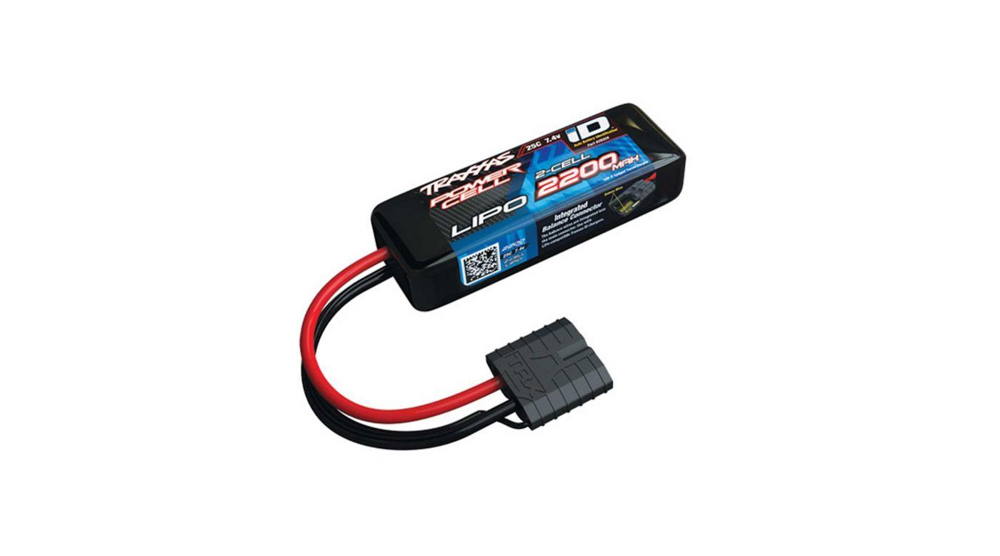 Image for 7.4V 2200mAh 2S 25C LiPo Battery, with TRA ID from HorizonHobby