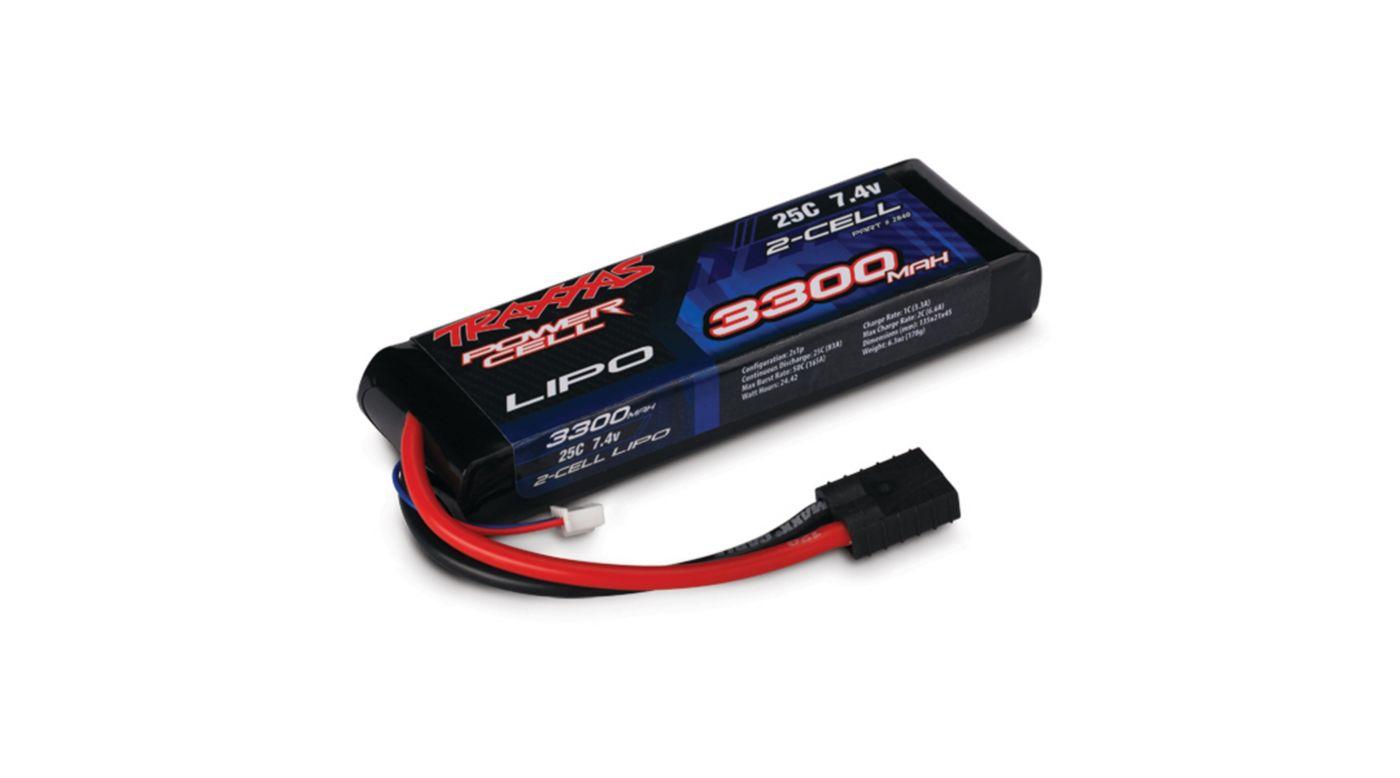 Image for 7.4V 3300mAh 25C 2S LiPo Battery from HorizonHobby