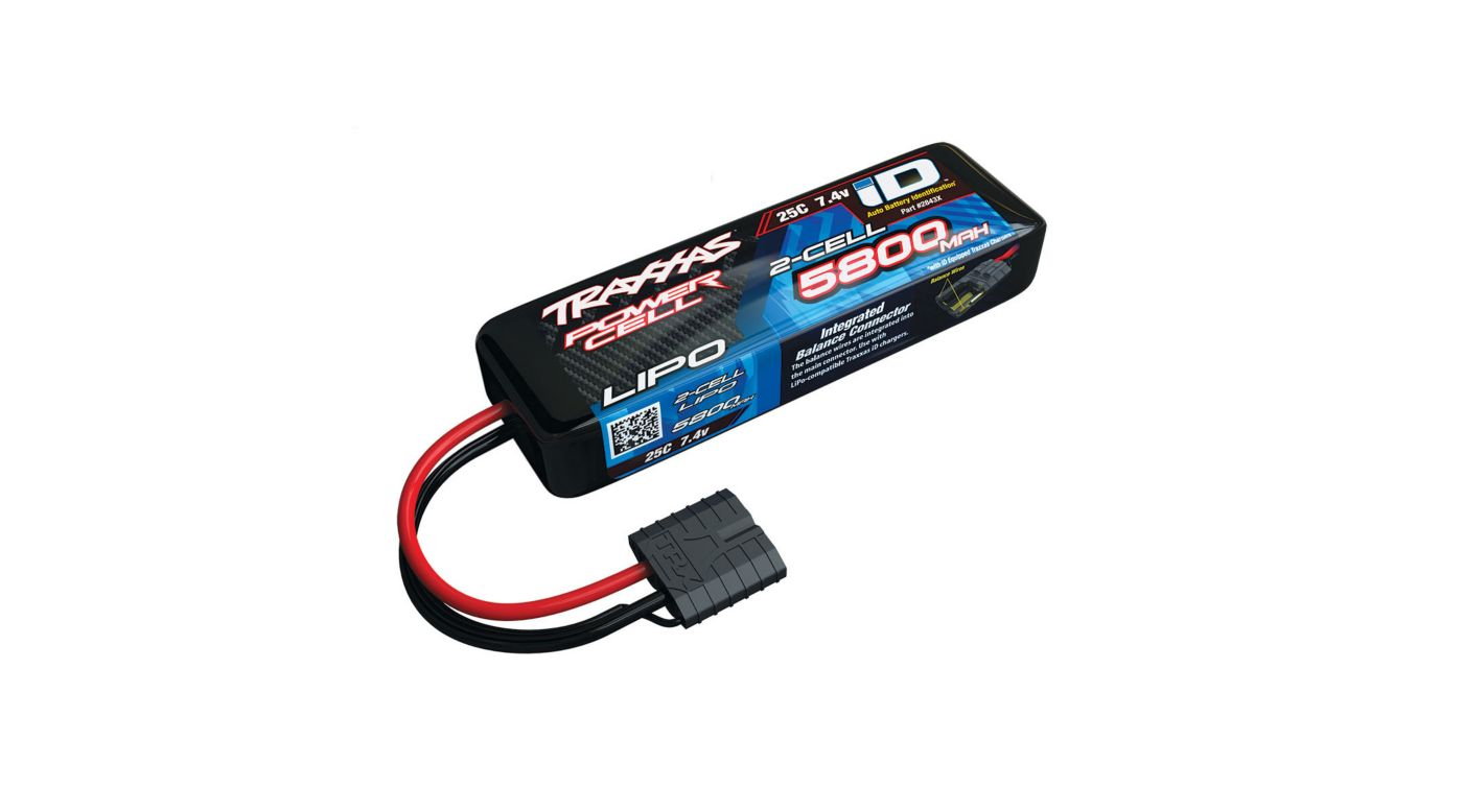 Image for 7.4V 5800mAh 25C 2S LiPo Battery with TRA ID from HorizonHobby