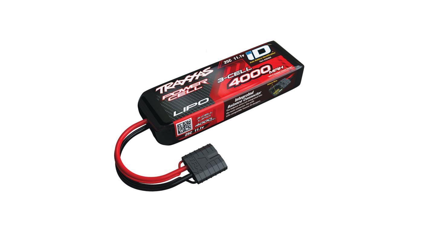 Image for 11.1V 4000mAh 25C 3S LiPo Battery with TRA ID from HorizonHobby
