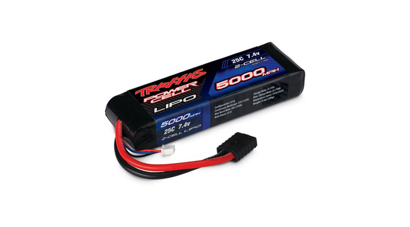 Image for 25C 7.4V 2S 2-Cell 5000mAh Lipo Battery from HorizonHobby