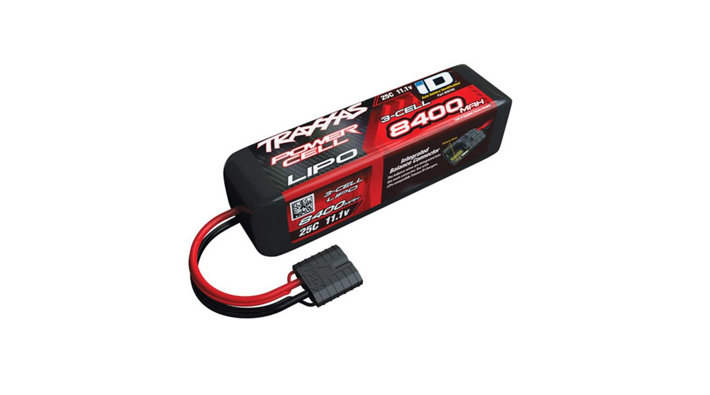 Image for 11.1V 8400mAh 3S 25C LiPo Battery, with TRA ID from HorizonHobby