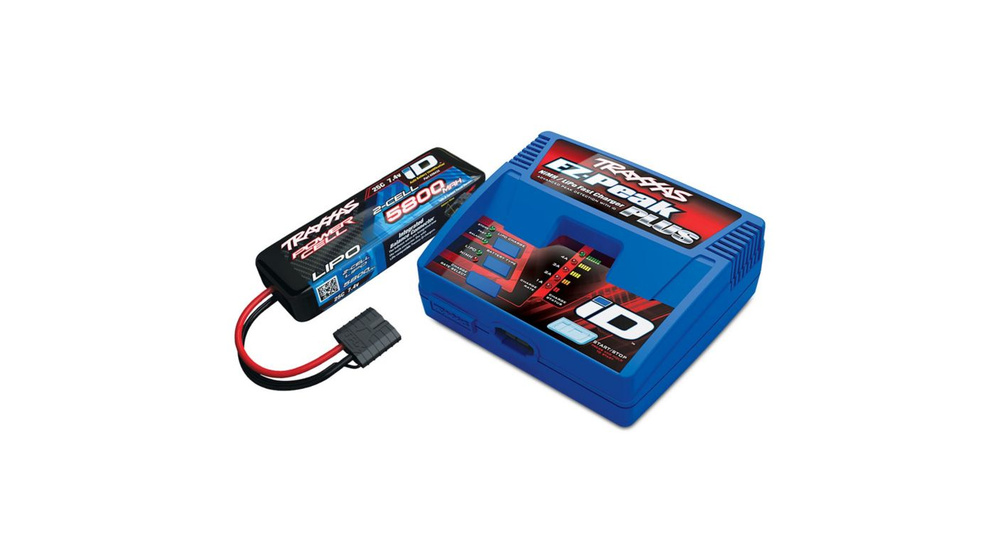 Image for 2S 5800mAh Single Completer Pack: (1) 7.4V 5800mAh LiPo Battery, (1) EZ-Peak Plus ID Charger from HorizonHobby
