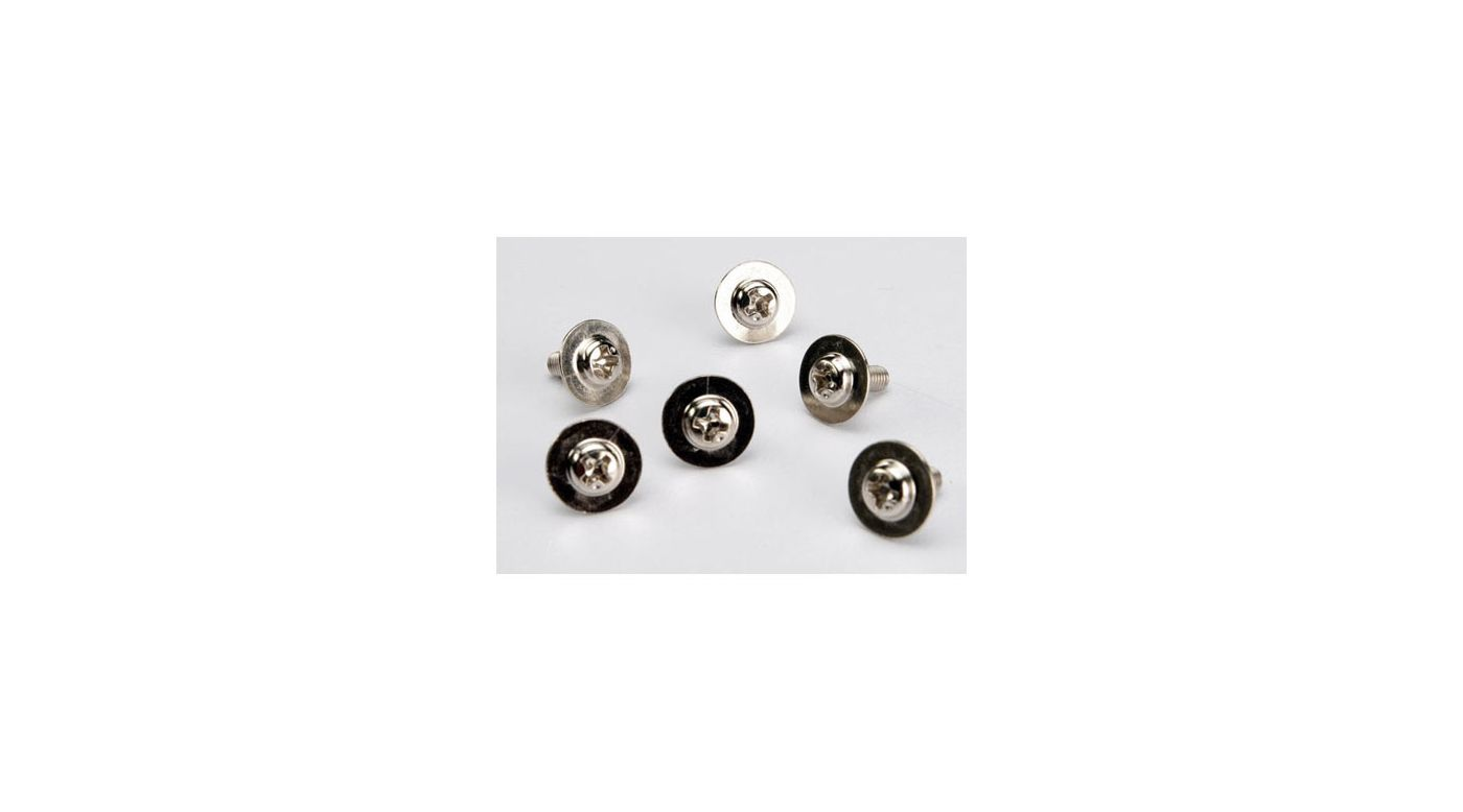Image for Screws, 3x8mm, Washerhead (6) from HorizonHobby