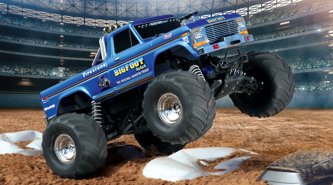 Image for 1/10 Bigfoot Classic 2WD Monster Truck Brushed RTR, Blue from HorizonHobby