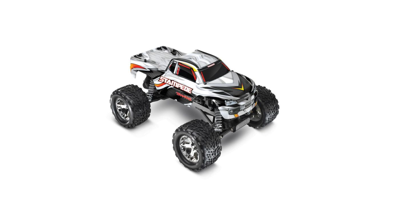 Image for 1/10 Stampede Monster Truck RTR with 2.4GHz, Silver/White from HorizonHobby