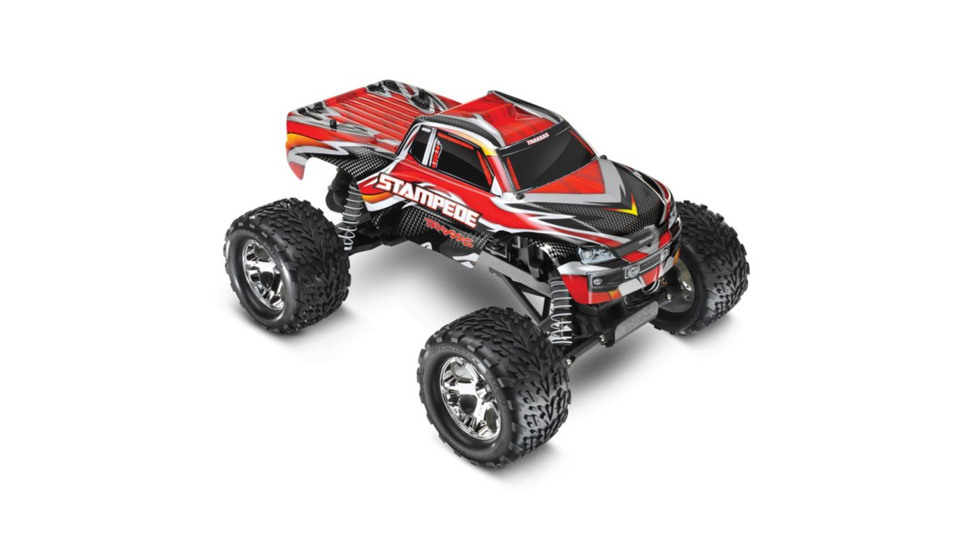 Image for Stampede Monster Truck RTR w/XL-5 w/Battery&Charger, Red from HorizonHobby