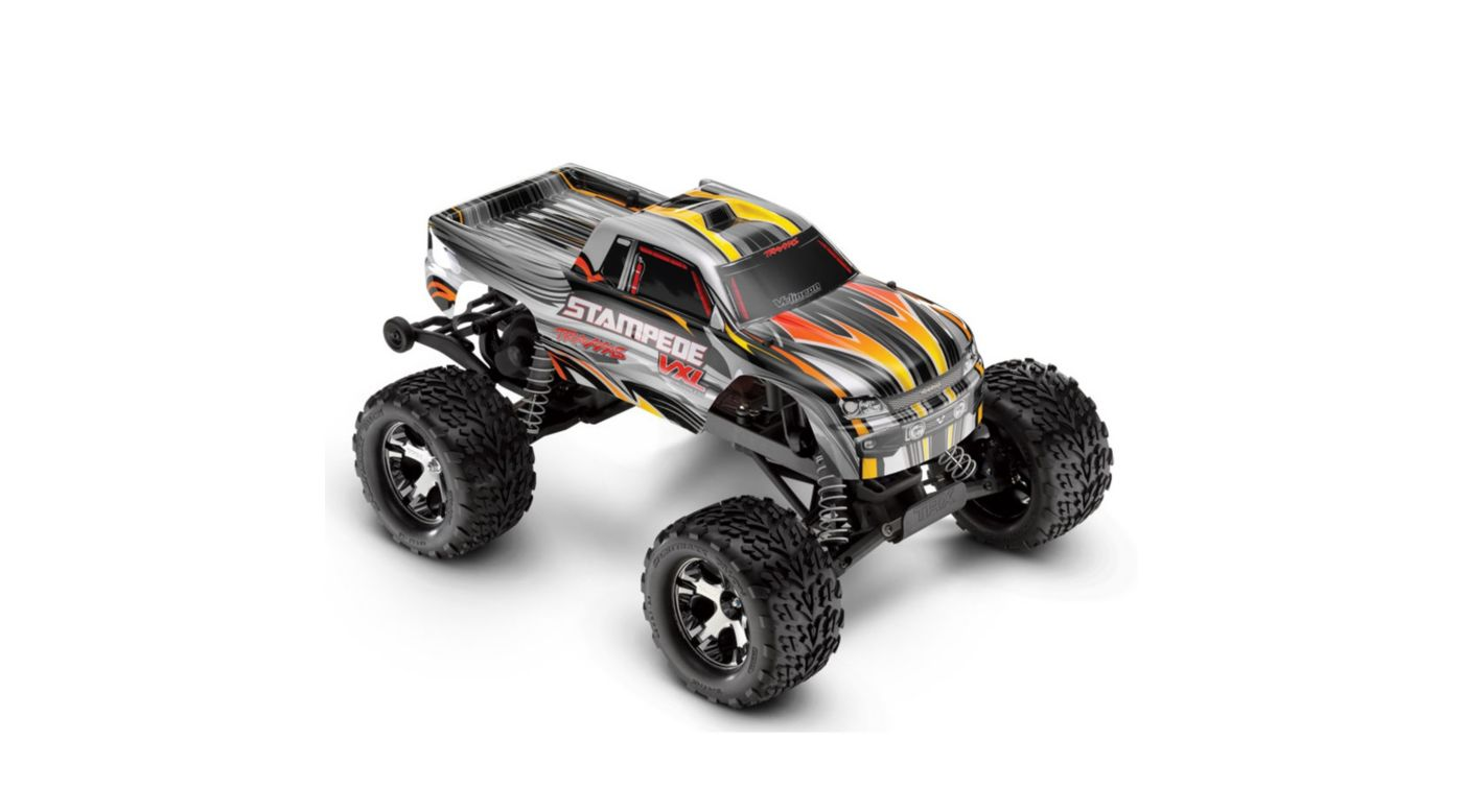 Image for 1/10 Stampede VXL RTR with 2.4GHz Radio, Silver from HorizonHobby