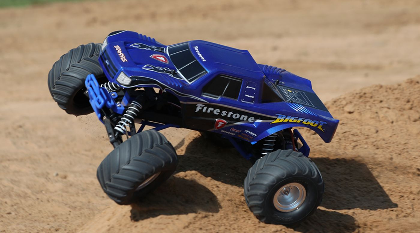 Image for 1/10 Bigfoot 2WD Monster Truck Brushed RTR, Firestone Edition from HorizonHobby