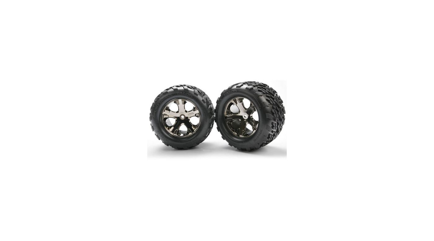 Image for All-Star Blk Chrome Whls w/ Talon Tires (2),R:SVXL from HorizonHobby