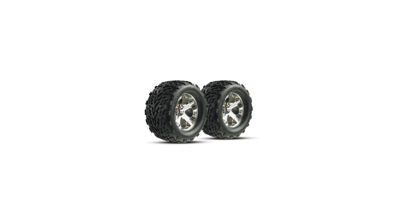 Image for Chrome Wheel (R) w/Talon Tire (2): ST from HorizonHobby