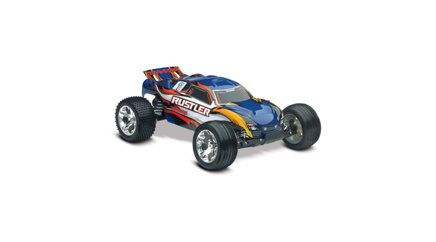 Image for 1/10 Rustler XL-5 2WD Stadium Truck Brushed RTR, Blue from HorizonHobby