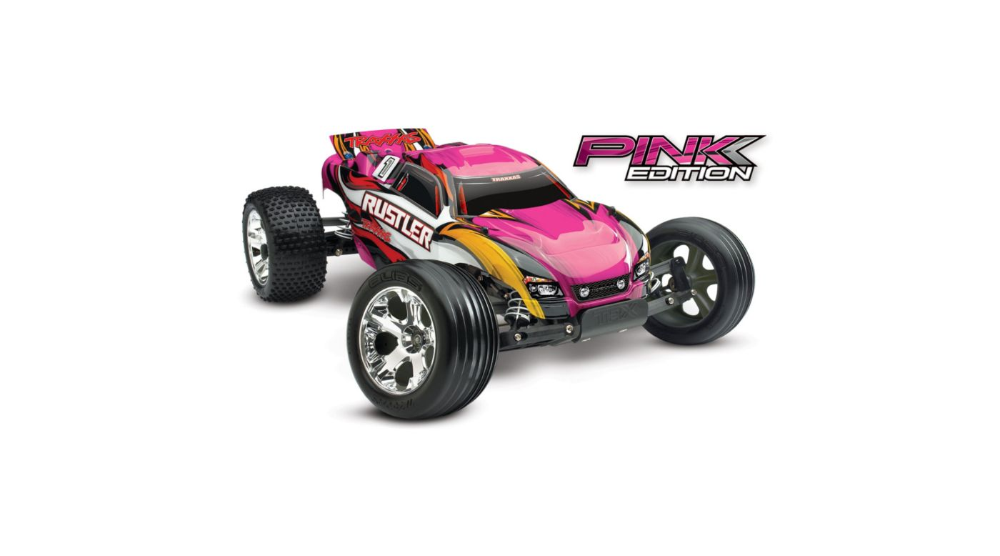 Image for 1/10 Rustler XL-5 2WD Stadium Truck Brushed RTR, Pink Edition from HorizonHobby